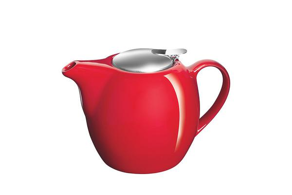 Avanti Camelia Ceramic Teapot 750ml Fire Engine Red