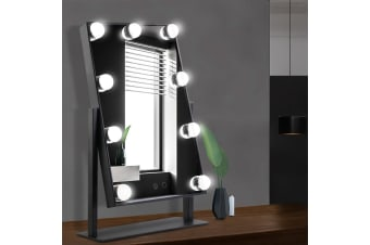 Hollywood Makeup Mirror With Light 12 LED Standing Mirror Vanity