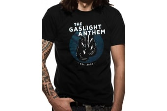 Gaslight Anthem Unisex Adults Gloves Design T-Shirt (Black)