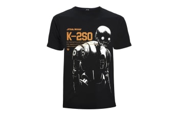 Star Wars Mens K-2SO T-Shirt (Black) (M)