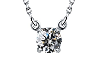 The Solitaire Necklace Embellished with Swarovski crystals