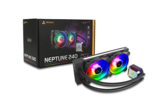 Antec Neptune 240 ARGB Advanced Liquid CPU Cooler, PWM LED Fan, PTFE Tubing, LGA