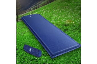 Self Inflating Mattress Camping Sleeping Mat Air Bed Pad Single Navy