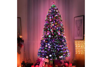 Christmas Tree Xmas Fibre Optic LED Green MULTI COLOUR 1.8m 6Ft