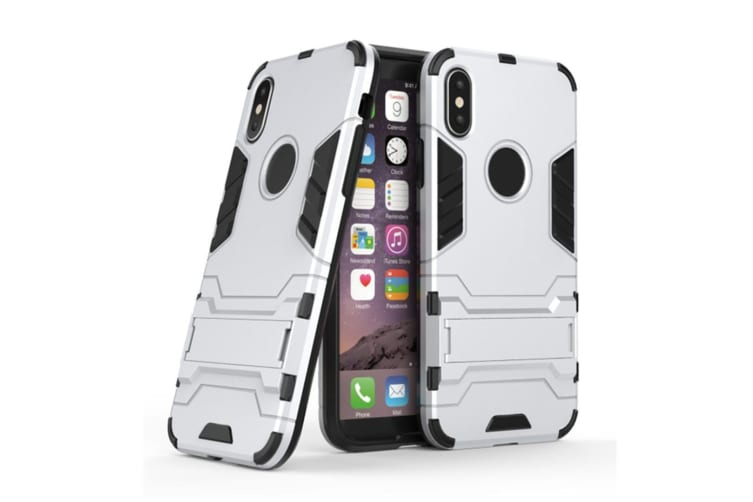 Full-Armoured Protective Case Of Steelman Stealth Bracket Phone Case For Iphone Silver Iphone 7