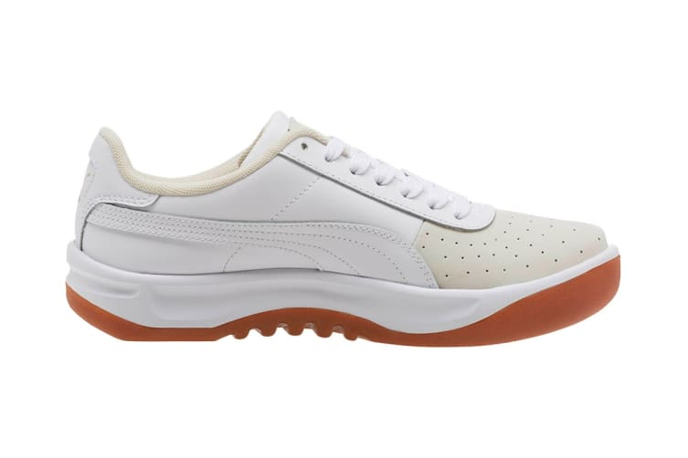 PUMA Women's California Exotic Shoe (Whisper White/White/Gold, Size 8)