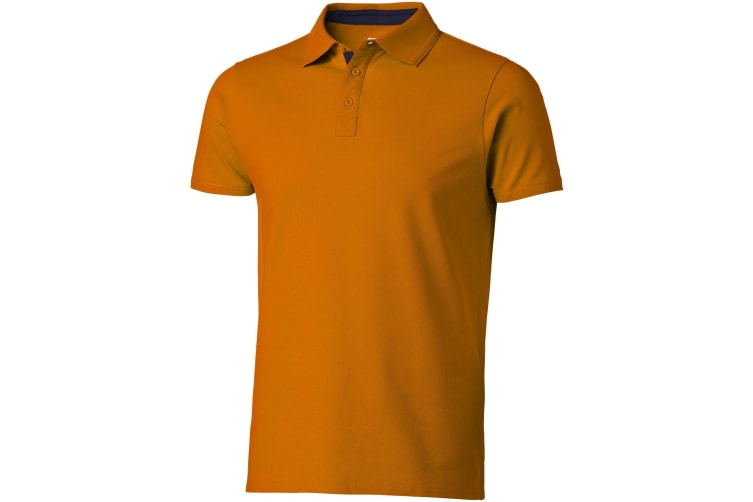 Slazenger Mens Hacker Short Sleeve Polo (Orange/Navy) (M)