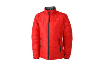 James and Nicholson Womens/Ladies Padded Lightweight Jacket (Red/Black) (L)