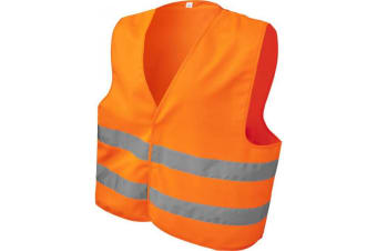 Bullet Unisex Adults See Me Too Safety Vest (Neon Orange) (XL)