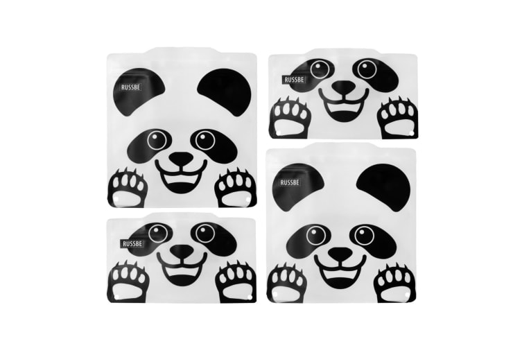 Russbe Reusable Snack And Sandwich Bags - Set 4-panda