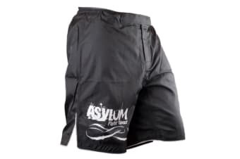 Asylum Black Shorts Size 36 Boxing/MMA/Fitness/Fighter Equipment/Fight Gear