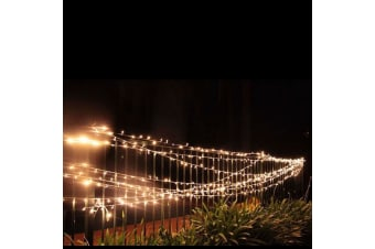 55m LED Christmas Fairy Light Clear String Warm White