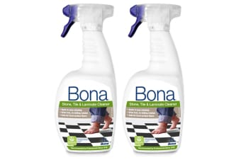 2PK Bona 1L Stone Tile & Laminate Spray Maintenance for Floors/Surface Cleaning