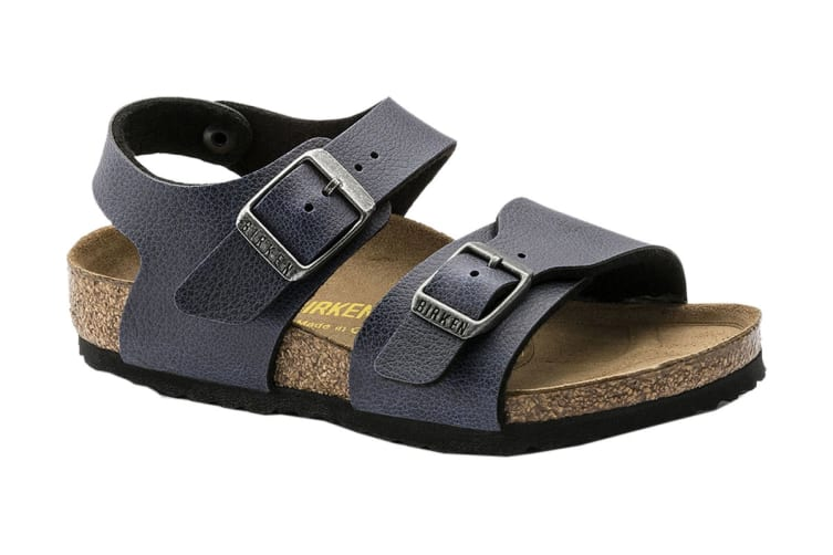 Birkenstock New York Kids BF Pull Up Navy Sandal (Size 33 EU)