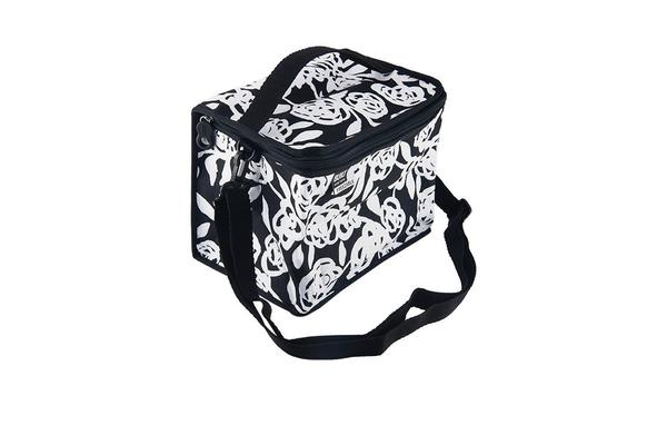 BUILT NY Icetec Collection Cube Lunch Bag Garden Rose Black & White