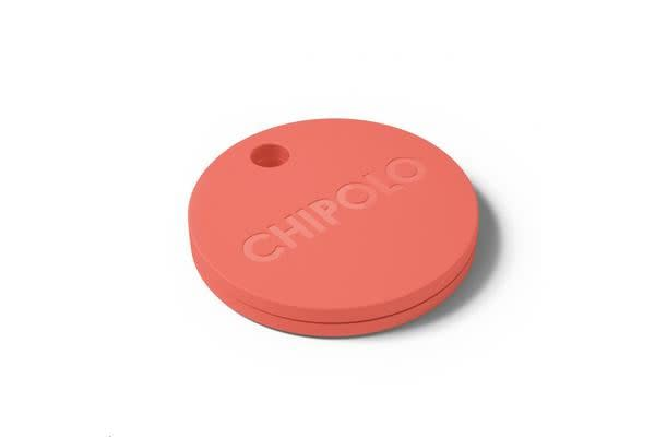 Chipolo Plus Smart Keyring Bluetooth Tracker, Coral Red