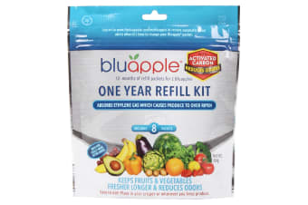Bluapple Classic + Activated Carbon Fruit & Vegetable Life Extender 1 Year Refill Kit - 8 Packets
