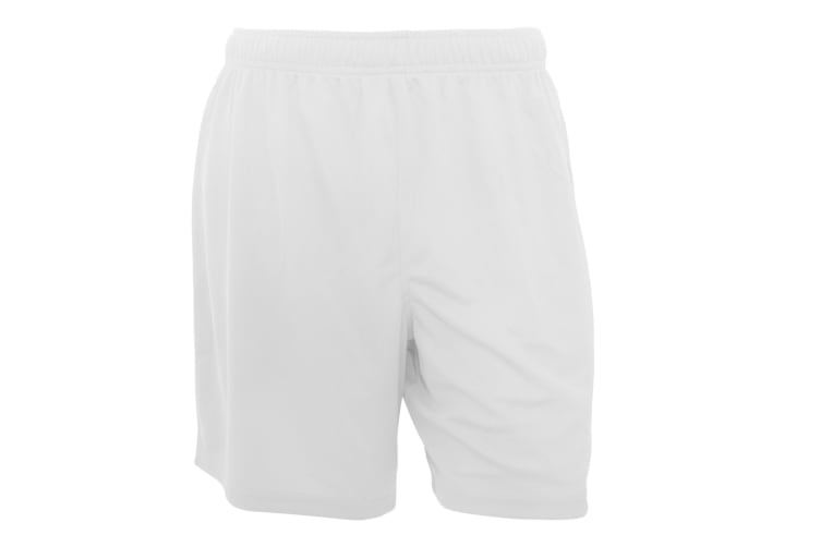 Fruit Of The Loom Mens Moisture Wicking Performance Sport Shorts (White) (2XL)