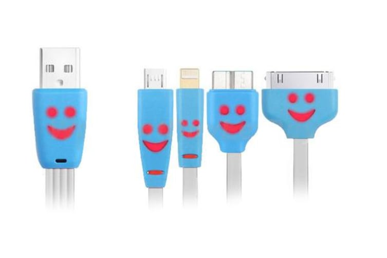 4 In 1 Lightning/ Micro Usb/ Micro-B Charging Cable For iPhone 7/8/X/XS Samsung