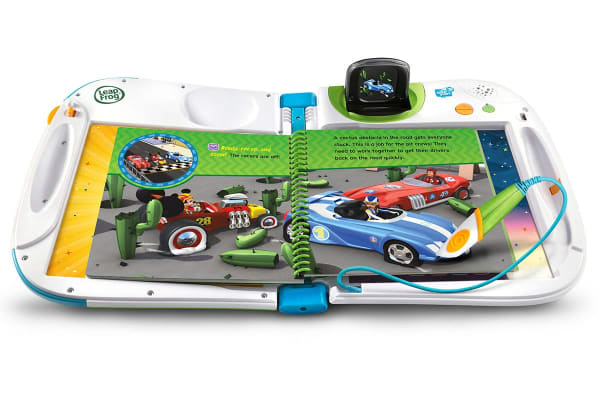 LeapFrog LeapStart book Mickey and the Roadster Racers - Pit Crews to the Rescue - 3D Enhanced