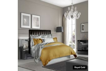 400TC Pima Cotton Quilt Cover Set Royal Gold KING by Grand Aterlier