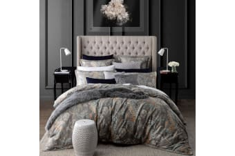 Jardin Silver Quilt Cover Set Queen by Private Collection