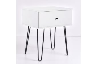 Ashe Bedside Table - White