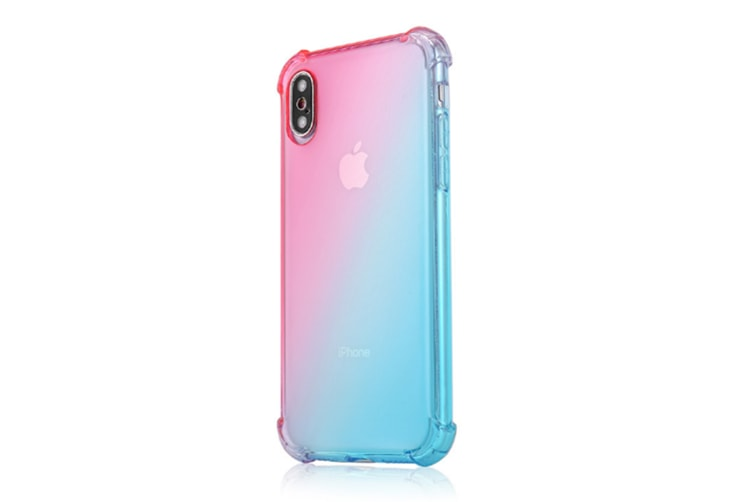 Slim Pink Green Color Gradient Shock Absorption Protective Cases For Iphone Xr