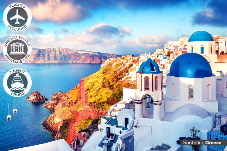 CROATIA & GREEK ISLANDS: 19 Day Summer Cruise Package Including Flights for Two (Inside Cabin)