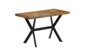 vidaXL Dining Table 120x60x75 cm Solid Reclaimed Wood