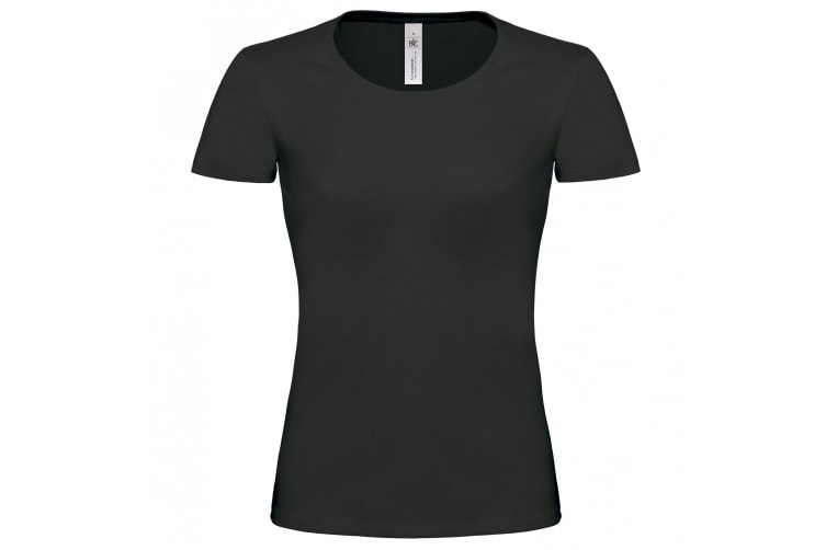 B&C Womens/Ladies Exact 190 Short Sleeve Top (Black) (XS)