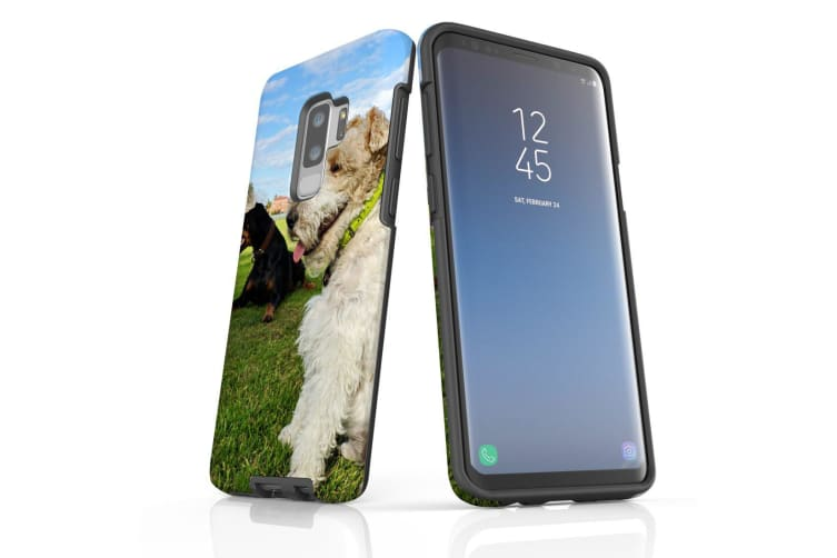 For Samsung Galaxy S9+ Plus Case Armour Cover  Dogs at the Park