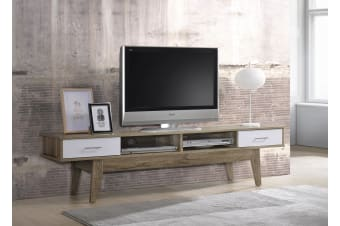 TV Stand Entertainment Unit Cabinet Scandinavian Design - Oak