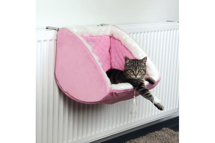 Trixie Cat Princess Radiator Bed (Pink) (38 × 30 × 38 cm)