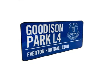 Everton FC Official Street Sign (Blue)