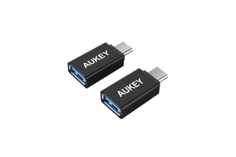 AUKEY USB-C to USB 3.0 Adapter (2-Pack) Charging Data Cable Converter Macbook