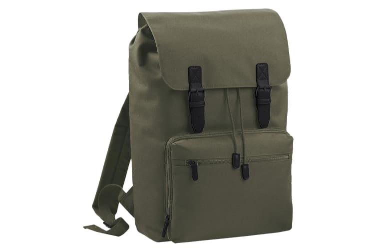 Bagbase Heritage Laptop Backpack Bag (Up To 17inch Laptop) (Olive/Black) (One Size)