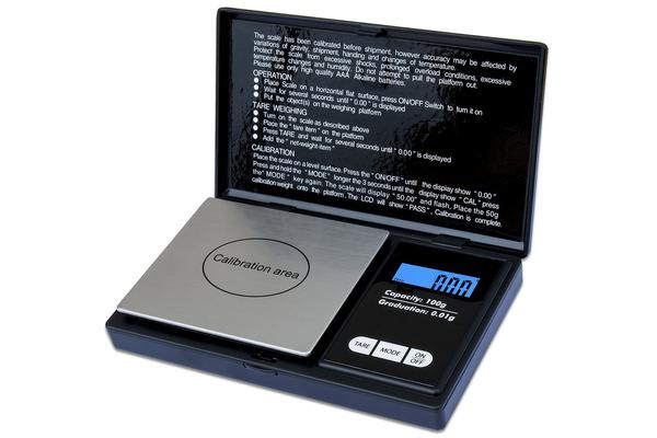 650G Digital Pocket Scale Tare Backlit Lcd Display Stainless Steel 0.1G Graduation