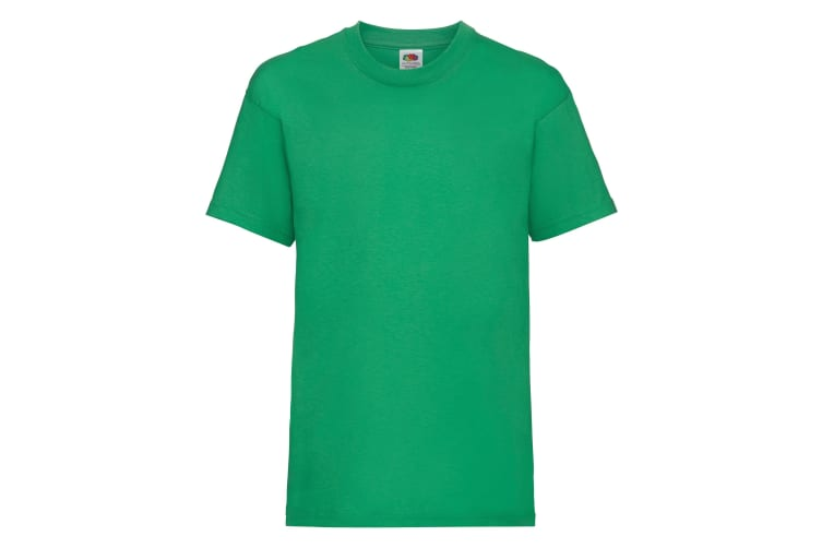 Fruit Of The Loom Childrens/Kids Unisex Valueweight Short Sleeve T-Shirt (Pack of 2) (Kelly Green) (3-4)