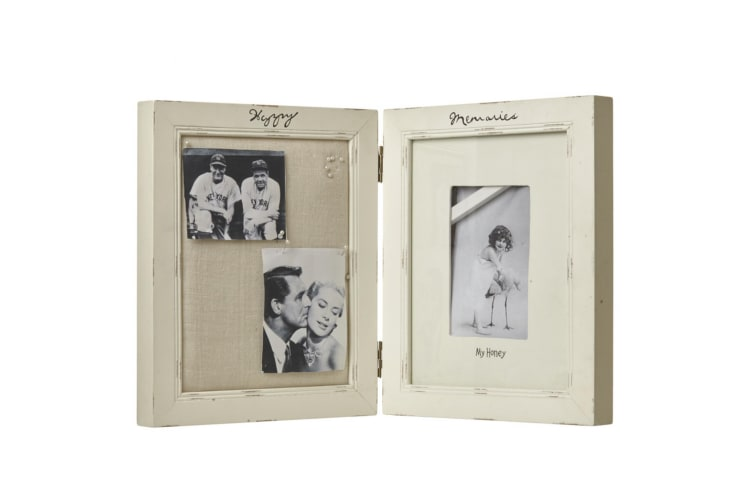 Happy Memories Double Photo Frame (Cream) (49 x 3 x 29cm)