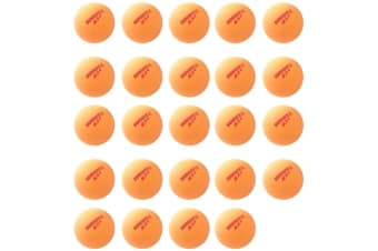 24pc Summit 2 Star Red Dot Table Tennis Plastic Ball 40+ Ping Pong Game Orange
