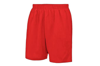 AWDis Just Cool Childrens/Kids Sport Shorts (Fire Red) (3-4 Years)
