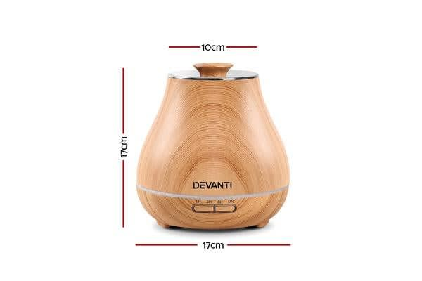 DEVANTi Aroma Diffuser Oil Ultrasonic Mist LED Air Humidifier Aromatherapy LW