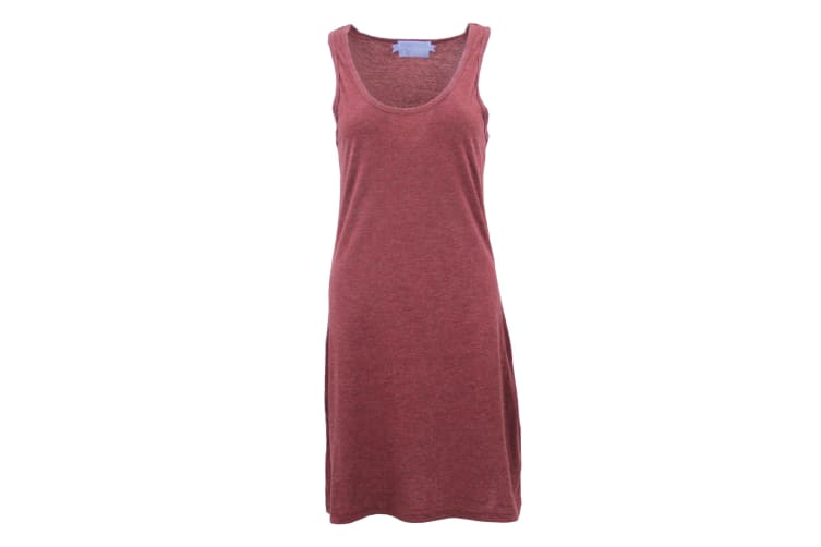 Womens Sleeveless Blouse Singlet Vest Tank Dress Tops T Shirt Summer Casual Wear - Burgundy