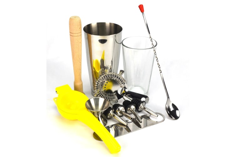 10 Piece Boston Shaker Set With Lemon Squeezer And A Free Bar Blade