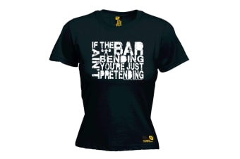 SWPS Gym Bodybuilding Tee - If The Bar Aint Bending - Black Womens T Shirt