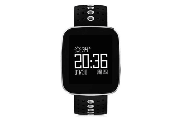 """Bluetooth V4.0 Smart Watch Heart Rate Blood Pressure Ip67 0.96"""" Oled - White"""
