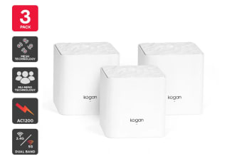 Kogan Wi-Fi AC1200 Whole-Home Mesh 3 Pack