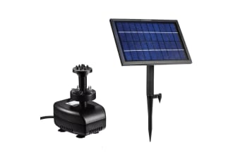 5W 2 IN 1 Outdoor Solar Power Fountain Pool Water Pump Kit w/Battery & LED Light