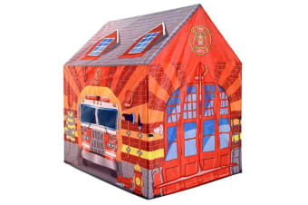 Firehouse Play Tent with 20 Plastic Play Balls